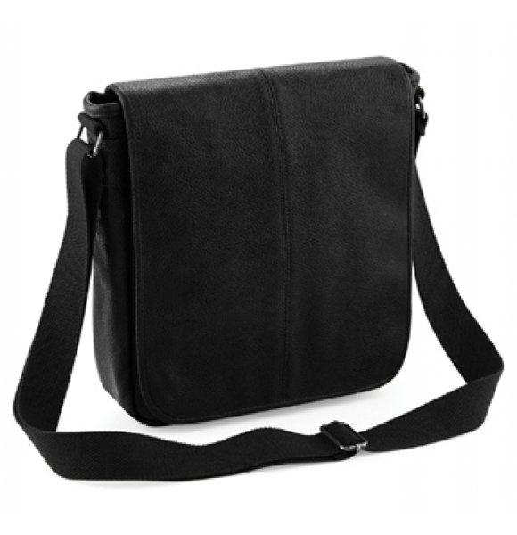 LE-876S  Leather-Look Messenger Bag Image 0of 3